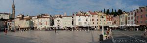 Panorámica de la Plaza de Piran - Eslovenia