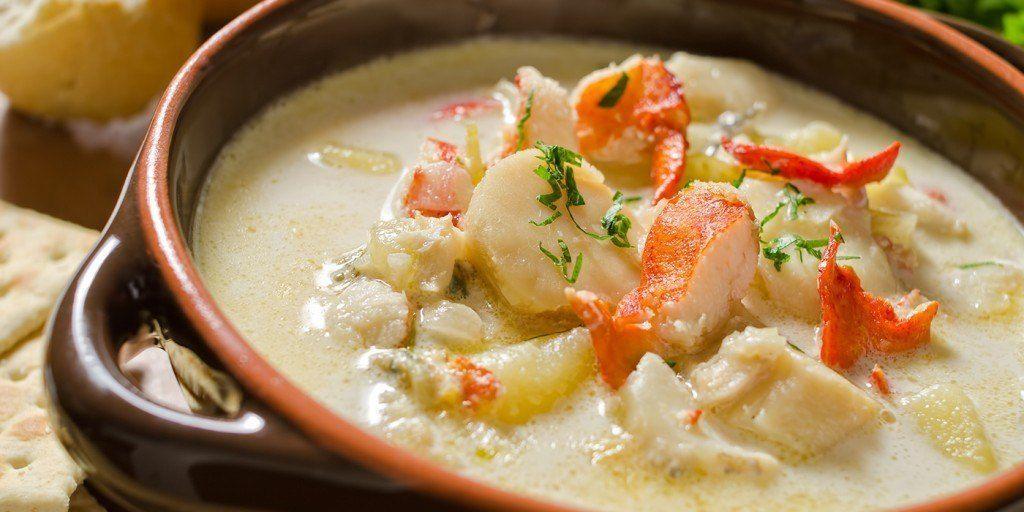 Sopa de marisco chilena