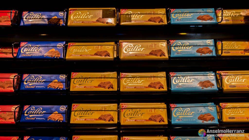 Chocolates de la marca Cailler