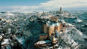 Alcazar de Segovia Nevado a Vista de Dron | Foto: Antonio Quinzán