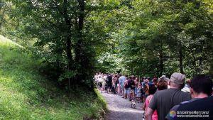 Cola para acceder a Vintgar Gorge - Eslovenia
