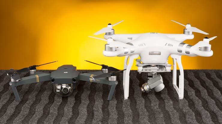 Drones Mavic Pro y Phantom 3