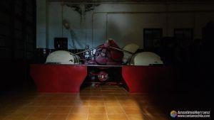 Amasadora para los chocolates con almendras - Antigua fábrica de Chocolates Herranz - Miguelañez - Segovia