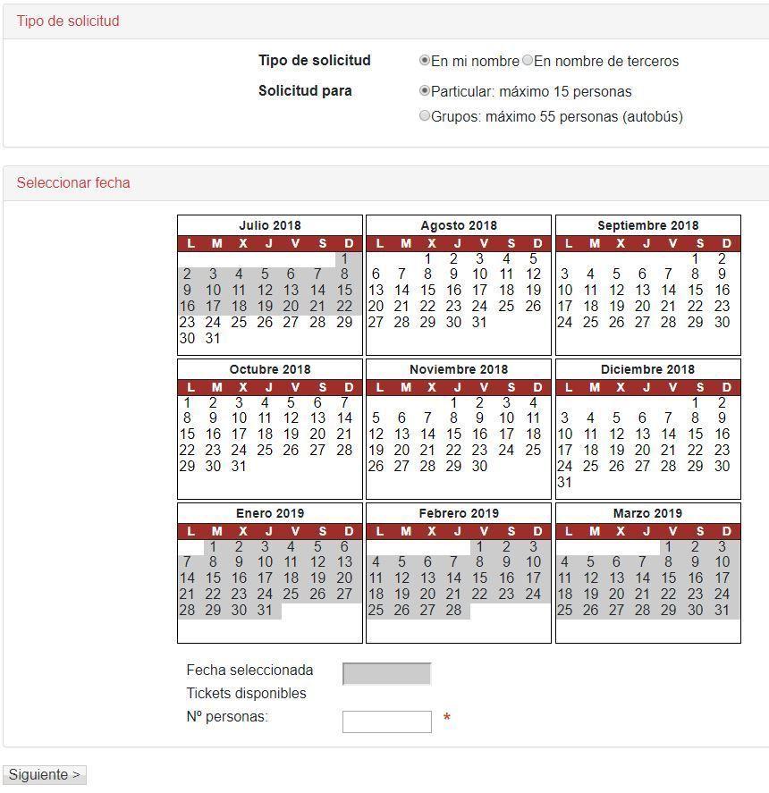 Calendario de Reserva del nacimiento del Urederra - Navarra