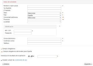 Solicitud de Datos para Reserva Nacedero del Urederra - Navarra