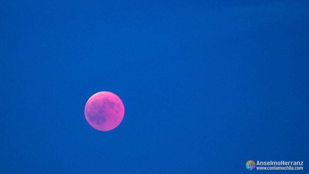 Luna de sangre en el eclipse total de Julio de 2018