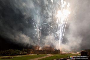 Traca final de los fuegos artificiales de Coca - Segovia