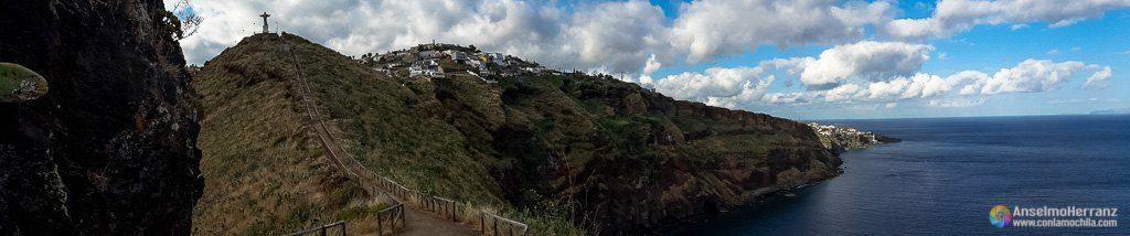 Panorámica de las vistas de Cristo Rey, Garajau - Caniço - Madeira