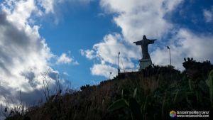 Cristo Rei desde el punto de vigilancia de los balleneros - Garajau - Caniço - Madeira