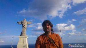 En el mirador de Cristo Rei - Caniço - Madeira