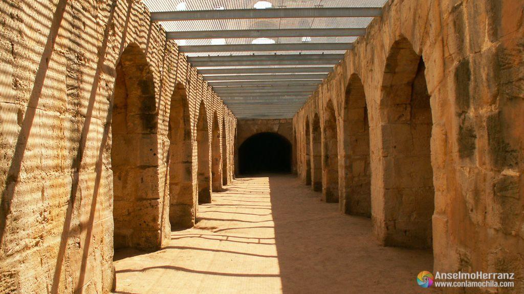 Celdas del anfiteatro romano de El Djem - Túnez