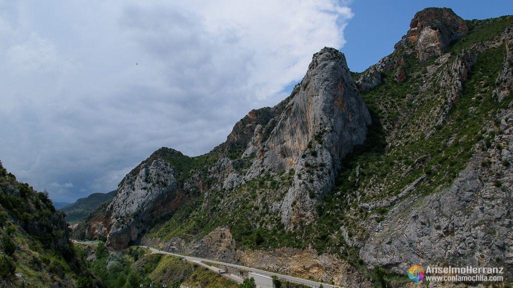 Vistas del paisaje desde el Mirador del Buitre - Arnedillo - La Rioja