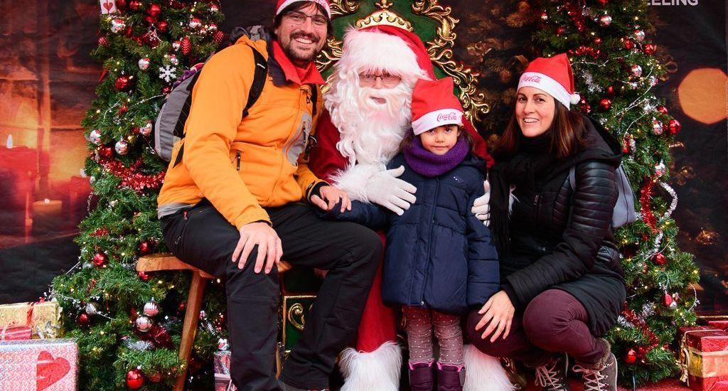 Con Papa Noel en el Mercado de Navidad de Montreux - Suiza