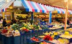 Puestos de verduras del mercado de Carlsplatz - Dusseldorf - Alemania