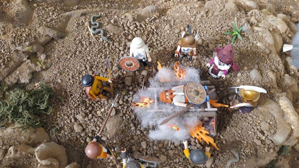 Incineración de numantinos muertos fuera del campo de batalla