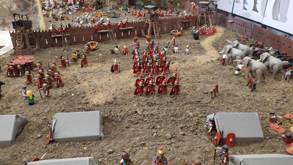 Legionarios romanos durante el sitio a Numancia