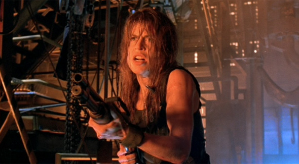 Sarah Connor y su escopetón