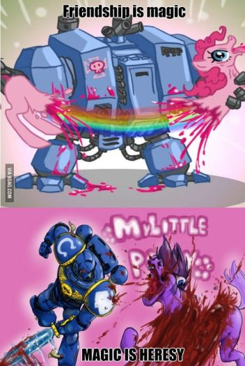 Pony vs heresy.