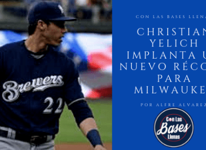 Christian Yelich implanta un nuevo récord para Milwaukee