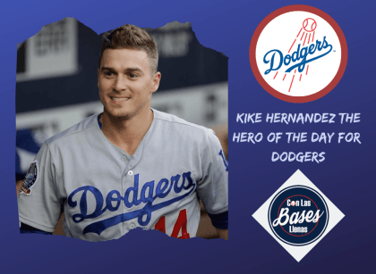 Kike Hernandez the hero of the day for Dodgers