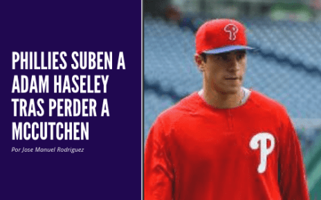 Phillies suben a Adam Haseley tras perder a McCutchen