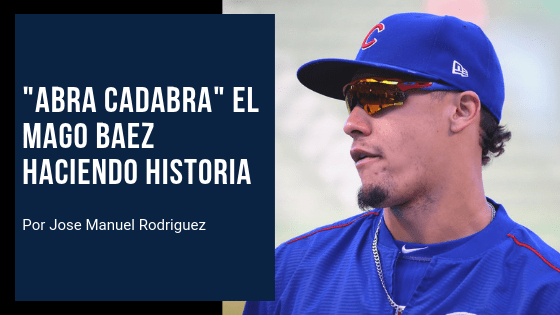 Javier Baez camino a romper récord personal con Cachorros