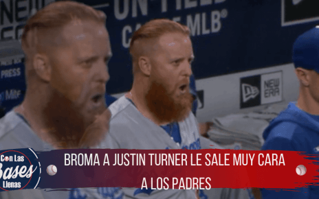 Broma a Justin Turner le sale cara a los Padres