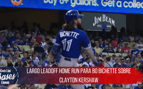 Largo leadoff home run para Bo Bichette sobre Clayton Kershaw