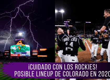El posible lineup de los Rockies de Colorado en 2020