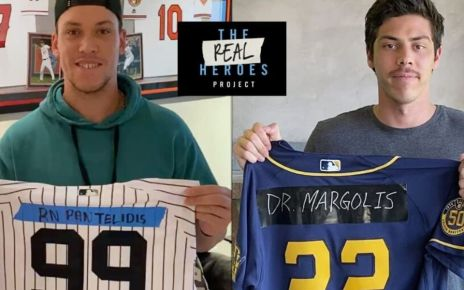Christian yelich y aaron judge #TheRealHeroes