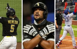 Jose Abreu, Lourdes Gurriel y Guillermo Heredia