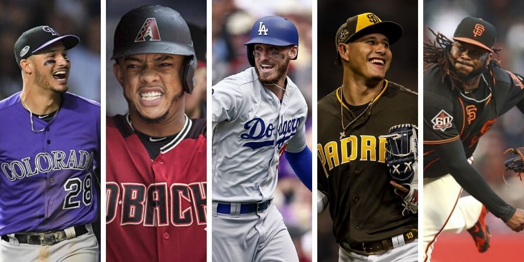 Dodgers, Dbacks, Giants, Padres y Rockies