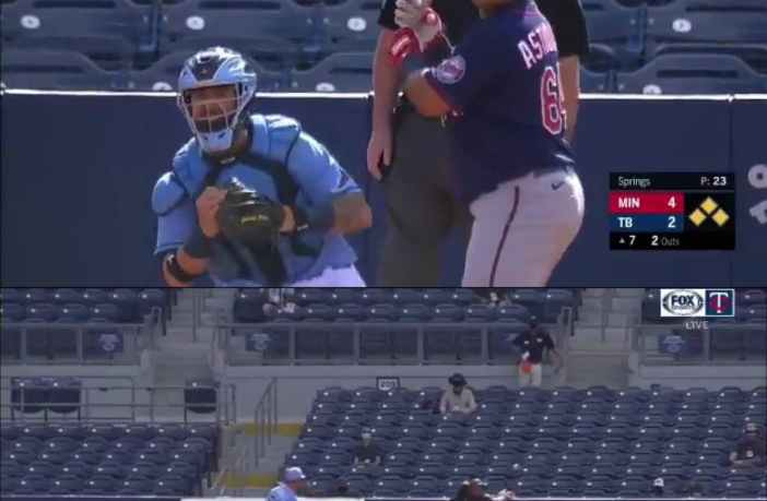 Willians Astudillo remolca dos ante los Rays en el Spring Training