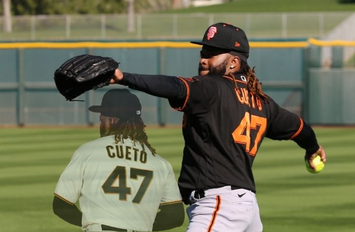 Johnny Cueto dominó en su primera salida de Spring Training 2021