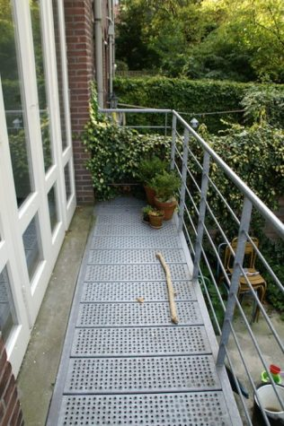 Antislip balkon delen