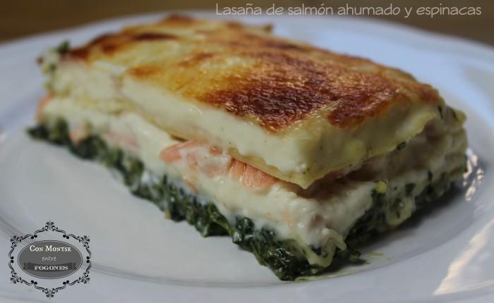 Lasaña de salmón ahumado y espinacas I
