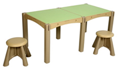 2 Panel Activity Table with 2 Seats