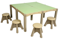 4 Panel Activity Table with 4 Seats