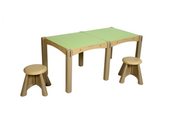 Modular Activity Table, 2 Panels and Stools
