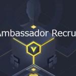 CoinEx Ambassadorになりました。今後いち早く情報提供できそうです。