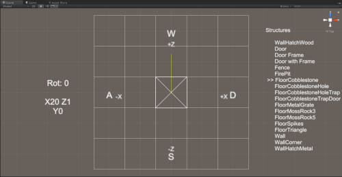 small resolution of convenient list of prefabs per category configurable controls visible on screen wiremesh on cursor