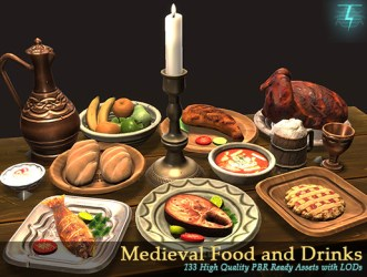 Medieval Food and Drinks Mega Pack Unity Connect