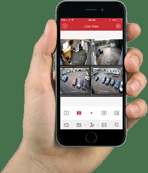 camerabewaking met app