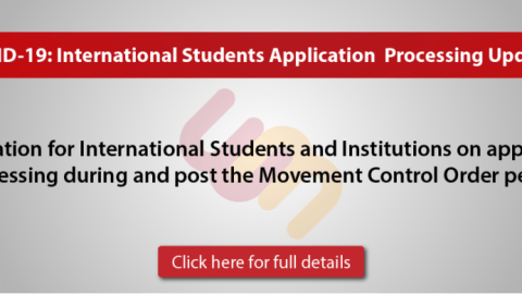 Clarification for International Students and Institutions on application processing during and post the Movement Control Order period
