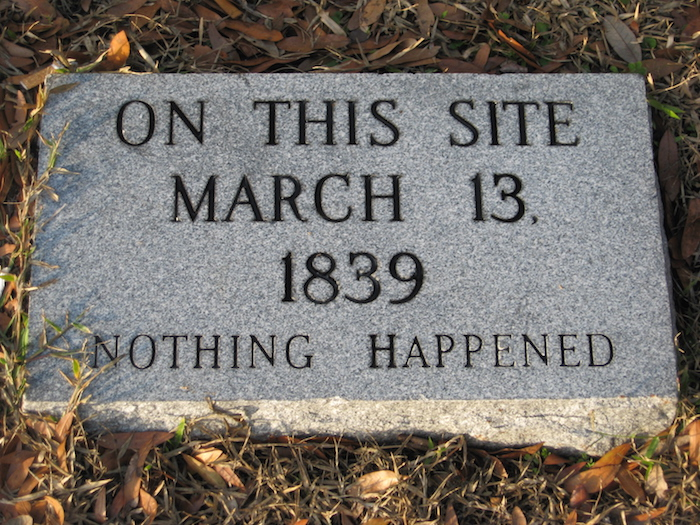 On this site nothing happened