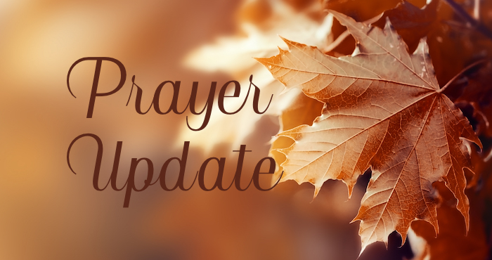 BIC Canada Prayer Update – November