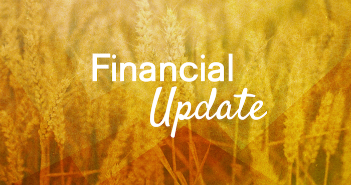 Financial Update From Our Treasurer
