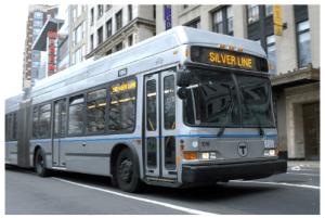 Silver Line in Boston, MA. MBTA