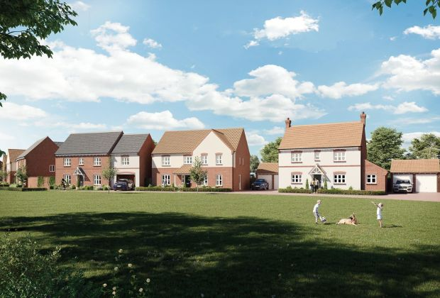 A computer generated street scene of Bellway's The Vale development in Bottesford-81e6b605