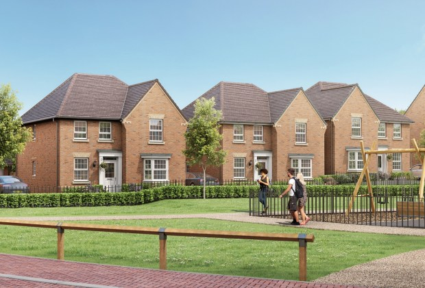 B&DWNM - EdwinstoweStreetScene3 - A CGI of the upcoming properties at Thoresby Vale in Edwinstowe-b748a127